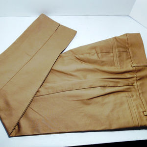 Ann Taylor Signature Cropped Leg Pants Tan